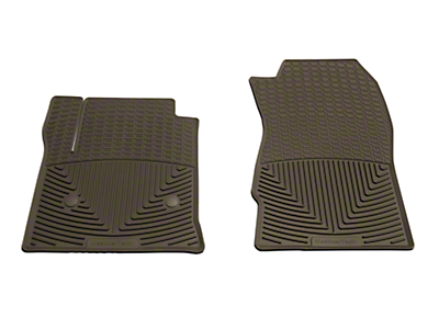 Weathertech All Weather Front Rubber Floor Mats - Cocoa (14-18 Silverado 1500)