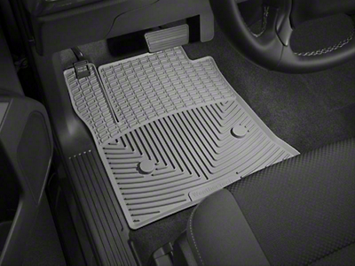 Weathertech All Weather Front Rubber Floor Mats - Gray (14-18 Silverado 1500)