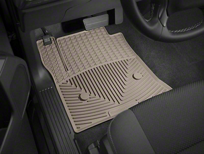 Weathertech All Weather Front Rubber Floor Mats - Tan (14-18 Silverado 1500)