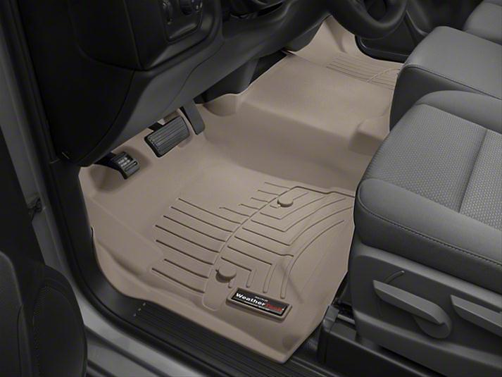 Weathertech DigitalFit Front Floor Liner - Over The Hump - Tan (14-18 Silverado 1500)