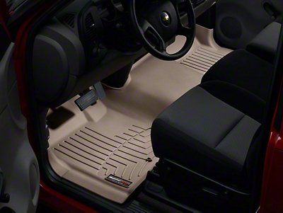 Weathertech DigitalFit Front Floor Liner - Over The Hump - Tan (07-13 Silverado 1500)