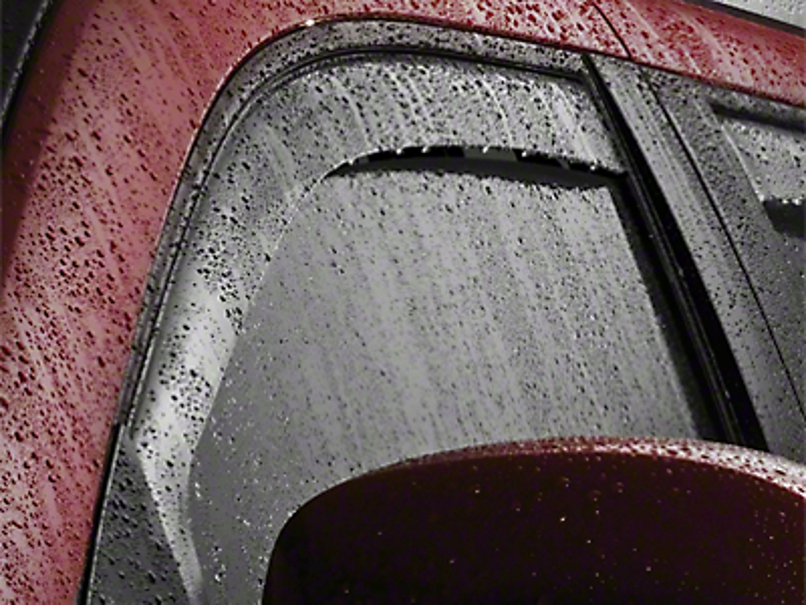 Weathertech Rear Side Window Deflectors - Light Smoke (07-13 Silverado 1500 Extended Cab)