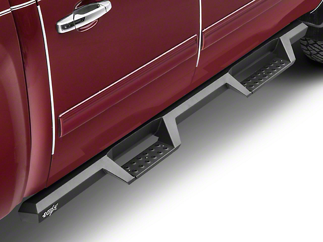 HDX Drop Nerf Side Step Bars - Textured Black (07-18 Silverado 1500 Crew Cab)