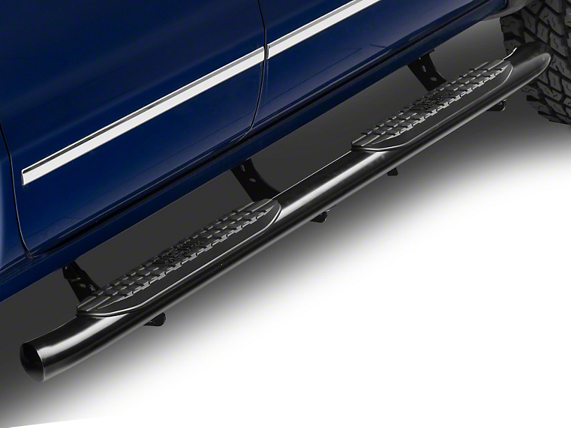Westin 4 in. Pro Traxx Oval Side Step Bars - Black (14-18 Silverado 1500)