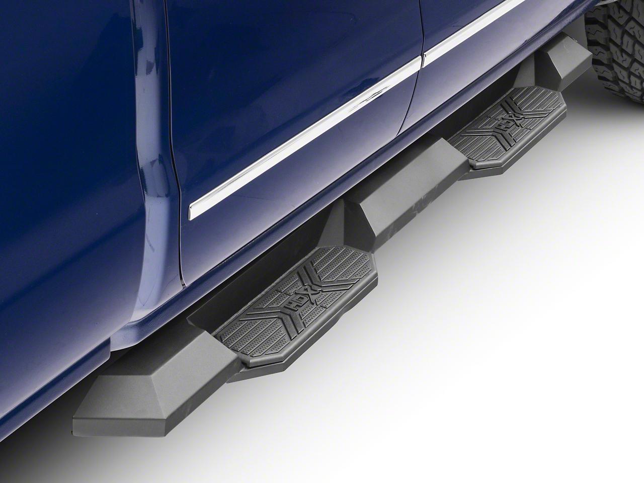 Westin HDX Xtreme Nerf Step Bars - Black (14-18 Silverado 1500 Double Cab, Crew Cab)
