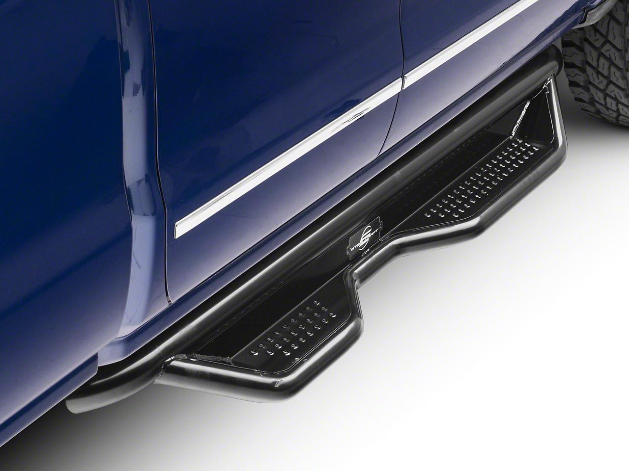Steel Craft Heavy Duty Side Step Bars - Semi-Gloss Black (14-18 Silverado 1500 Double Cab, Crew Cab)
