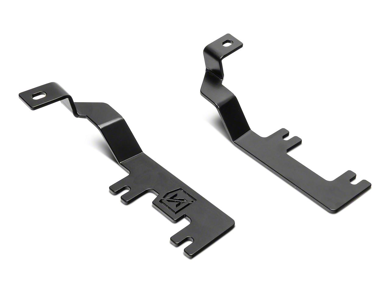 ZRoadz Two 3 in. LED Light Cubes Hood Hinge Mounting Brackets (07-13 Silverado 1500)