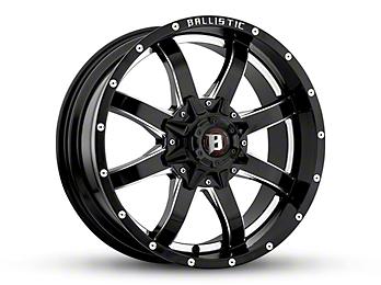 Ballistic Anvil Gloss Black Milled 6-Lug Wheel - 17x9 (07-18 Silverado 1500)