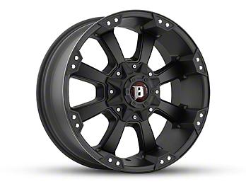Ballistic Morax Flat Black 6-Lug Wheel - 17x9 (07-18 Silverado 1500)
