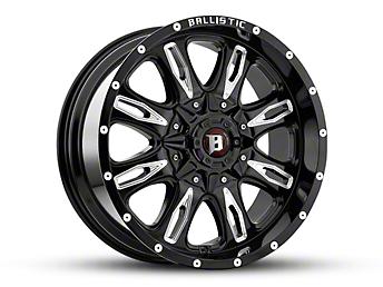 Ballistic Scythe Gloss Black Milled 6-Lug Wheel -18x9 (07-18 Silverado 1500)