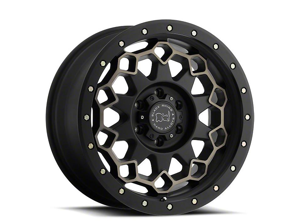 Black Rhino Diamante Matte Black Machined 6-Lug Wheel - 17x9 (07-18 Silverado 1500)