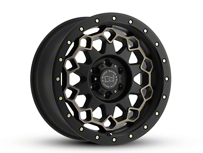 Black Rhino Diamante Matte Black Machined 6-Lug Wheel - 20x9 (99-18 Silverado 1500)
