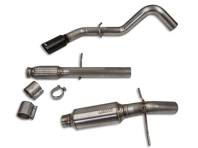Carven Exhaust Progressive Series Single Exhaust System with Black Tip; Side Exit (10-18 5.3L Silverado 1500)