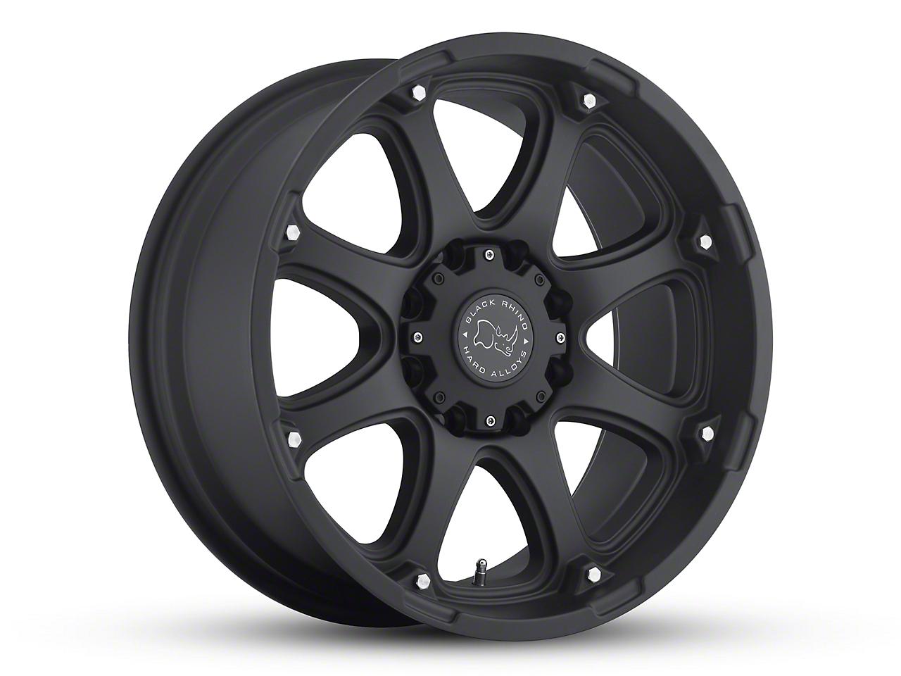 Black Rhino Glamis Matte Black 6-Lug Wheel - 17x9 (99-18 Silverado 1500)
