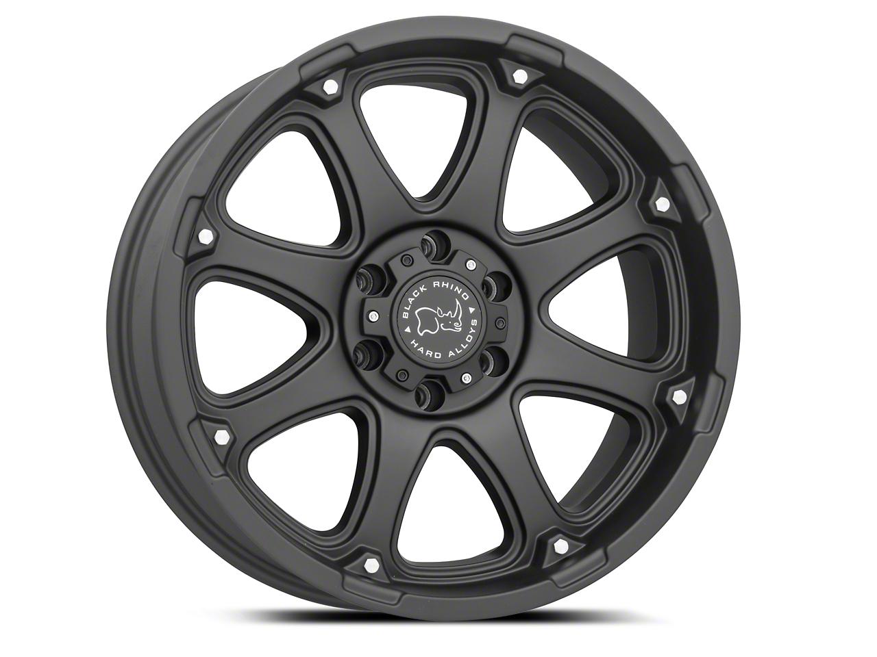 Black Rhino Glamis Matte Black 6-Lug Wheel - 20x9 (99-18 Silverado 1500)