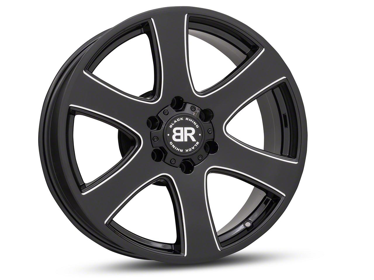 Black Rhino Haka Gloss Black Milled 6-Lug Wheel - 20x8.5 (99-18 Silverado 1500)