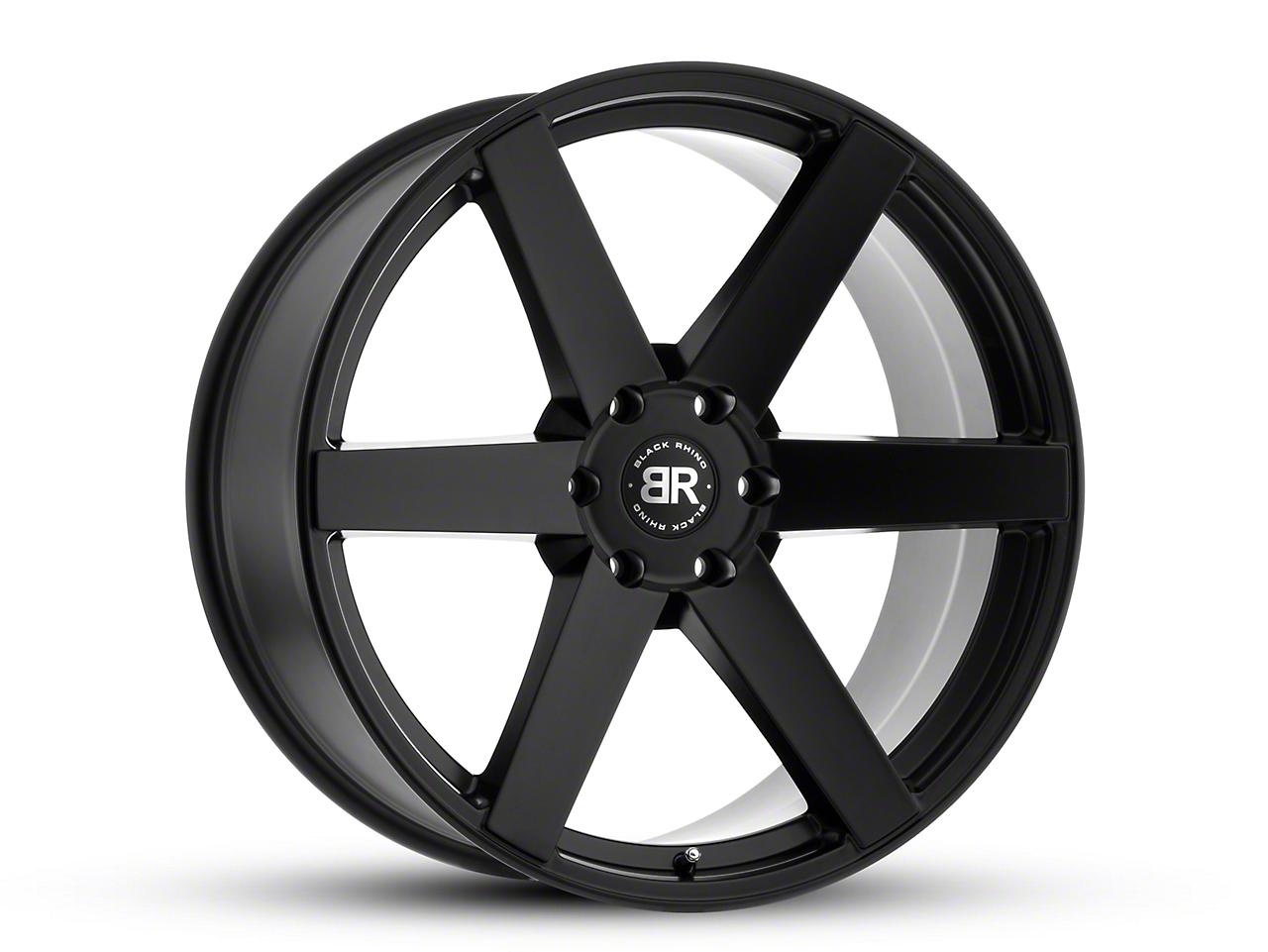 Black Rhino Karoo Matte Black 6-Lug Wheel - 24x10 (99-18 Silverado 1500)