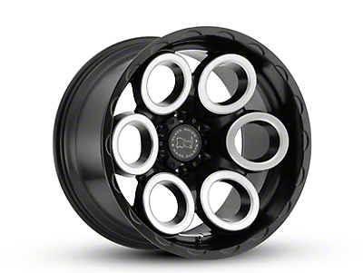 Black Rhino Magnus Matte Black Machined 6-Lug Wheel - 18x9.5 (07-18 Silverado 1500)