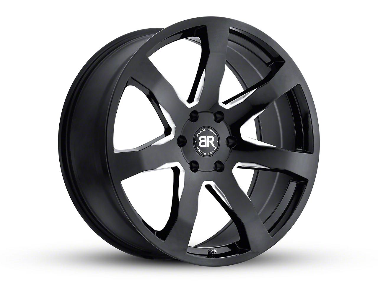 Black Rhino Mozambique Gloss Black Milled 6-Lug Wheel - 22x9.5 (99-18 Silverado 1500)