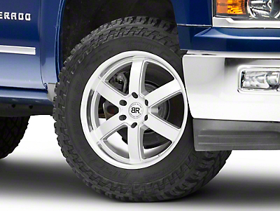 Black Rhino Pondora Silver Machined 6-Lug Wheel - 20x8.5 (99-18 Silverado 1500)