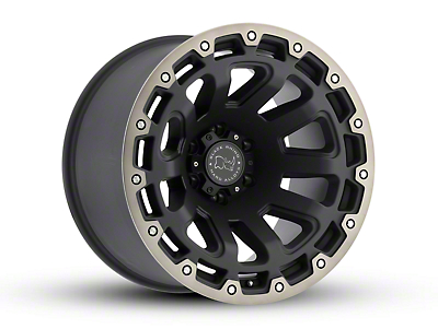 Black Rhino Razorback Matte Black Machined 6-Lug Wheel - 18x9 (99-18 Silverado 1500)