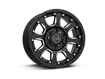 Black Rhino Sierra Gloss Black Milled 6-Lug Wheel - 17x9 (99-18 Silverado 1500)