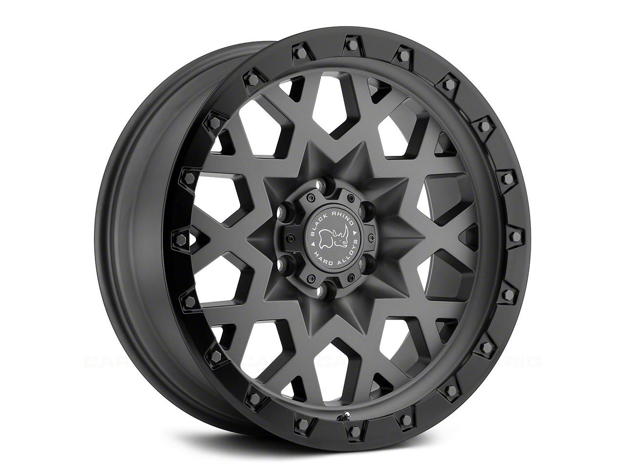 Black Rhino Sprocket Matte Gunmetal 6-Lug Wheel - 17x9.5 (99-18 Silverado 1500)