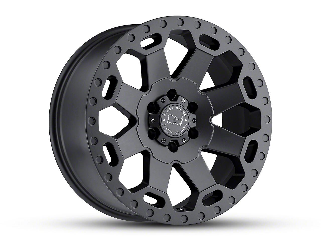 Black Rhino Warlord Matte Gunmetal 6-Lug Wheel - 18x9 (99-18 Silverado 1500)