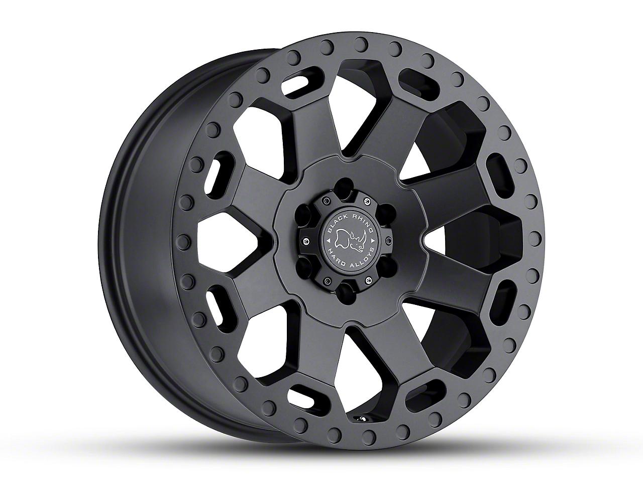 Black Rhino Warlord Matte Gunmetal 6-Lug Wheel - 17x9 (07-18 Silverado 1500)
