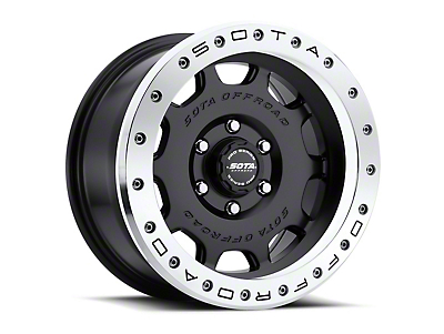 SOTA Off Road D.R.T. Stealth Black 6-Lug Wheel - 20x10 (99-18 Silverado 1500)