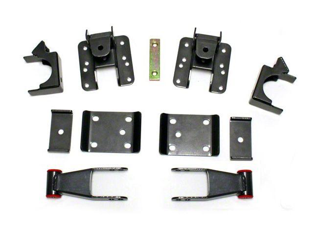 Max Trac Adjustable Rear Flip Lowering Kit - 3-4 in. (07-18 Silverado 1500)