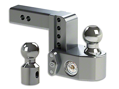 Weigh Safe 2 in. Receiver Hitch Adjustable Ball Mount w/ Built-In Scale - 4 in. Drop Hitch (99-18 Silverado 1500)