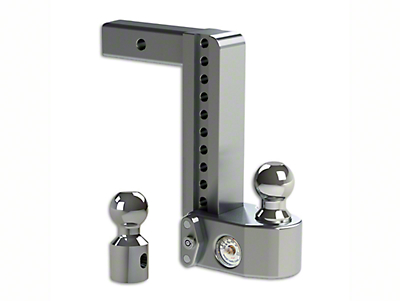 Weigh Safe 2 in. Receiver Hitch Adjustable Ball Mount w/ Built-In Scale - 10 in. Drop Hitch (99-18 Silverado 1500)