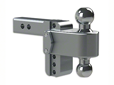 Weigh Safe 2 in. Receiver Hitch 180 Degree Adjustable Ball Mount - 4 in. Drop Hitch (99-18 Silverado 1500)