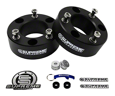 Supreme Suspensions 2 in. Pro Billet Front Strut Spacer Leveling Kit (07-18 Silverado 1500)