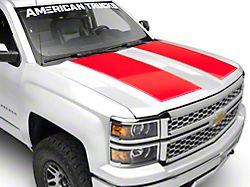 SEC10 Hood Decal; Red (14-18 Silverado 1500)