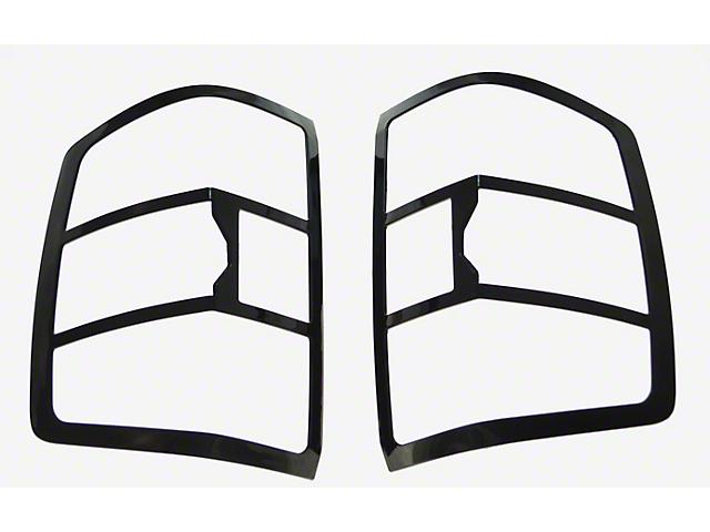 Tail Light Bezels; Black (14-18 Silverado 1500, Excluding LTZ)