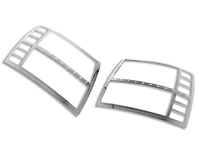 Black Horse Off Road Headlight Bezels - Chrome (07-13 Silverado 1500)