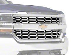 OEM Look Upper Overlay Grille; Chrome (16-18 Silverado 1500)