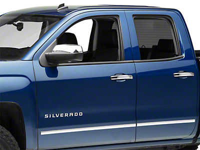 Black Horse Off Road Door Handle Covers - Chrome (07-13 Silverado 1500)