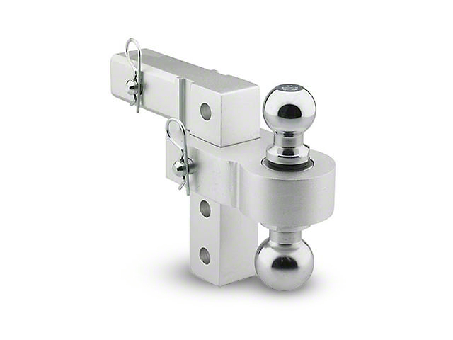 Smittybilt 2 in. Receiver Hitch Adjustable Ball Mount w/ 1-7/8 in. & 2 in. Balls - 6 in. Drop Hitch (99-19 Silverado 1500)