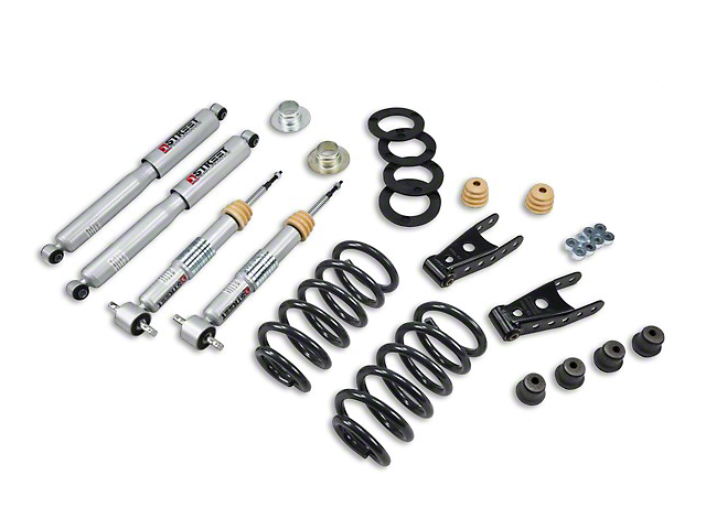 Belltech Lowering Kit; 1 to 2-Inch Front / 2 to 3-Inch Rear (07-13 2WD Silverado 1500 Regular Cab w/ Short Box)