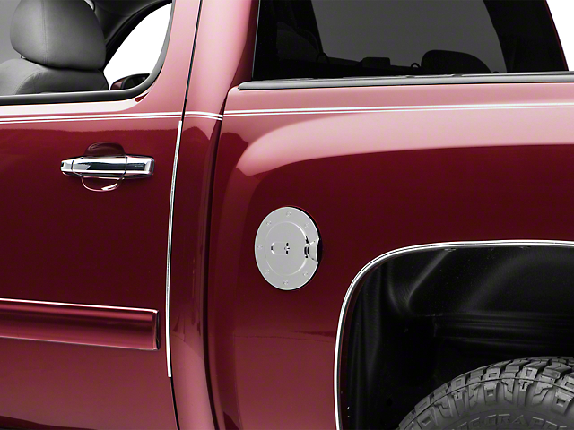 SpeedForm Chrome Fuel Door Cover (07-13 Silverado 1500)