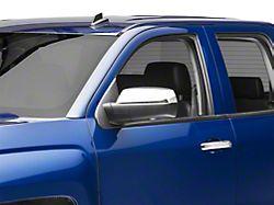 RedRock 4x4 Top Half Standard Mirror Covers; Chrome (14-18 Silverado 1500)