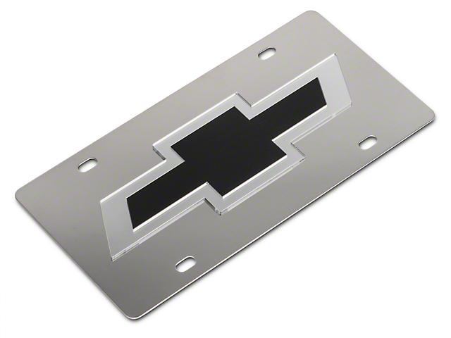 SpeedForm Stainless Steel License Plate w/ Black Bowtie Logo (Universal Fitment)