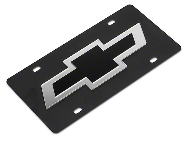 SpeedForm Carbon Steel License Plate w/ Black Bowtie Logo (Universal Fitment)