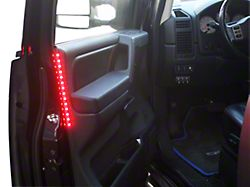 Delta Door Accent LED Light Strip; Red (Universal; Some Adaptation May Be Required)