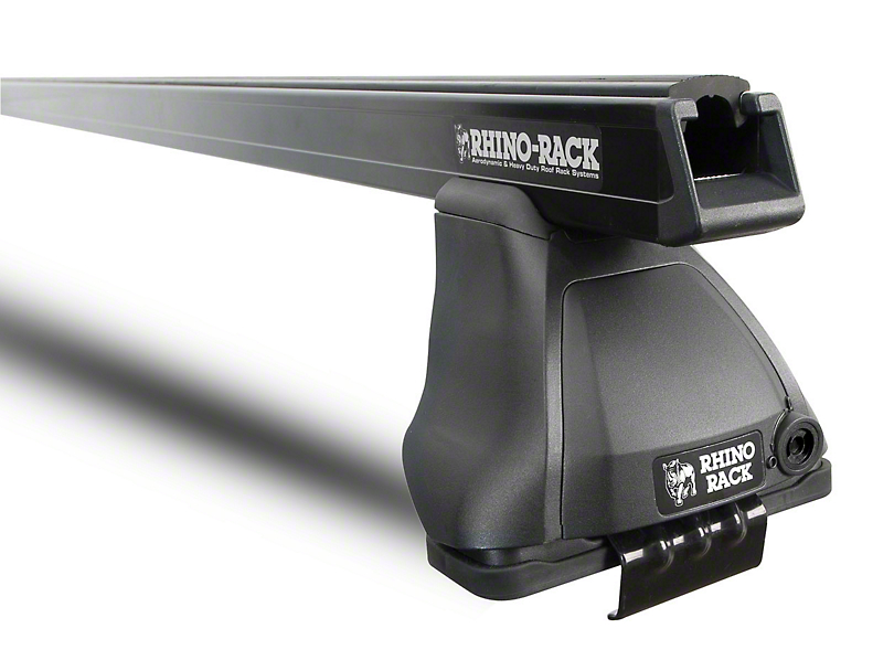 Rhino-Rack Heavy Duty 2500 Rear 1-Bar Roof Rack - Black (14-18 Silverado 1500 Double Cab, Crew Cab)