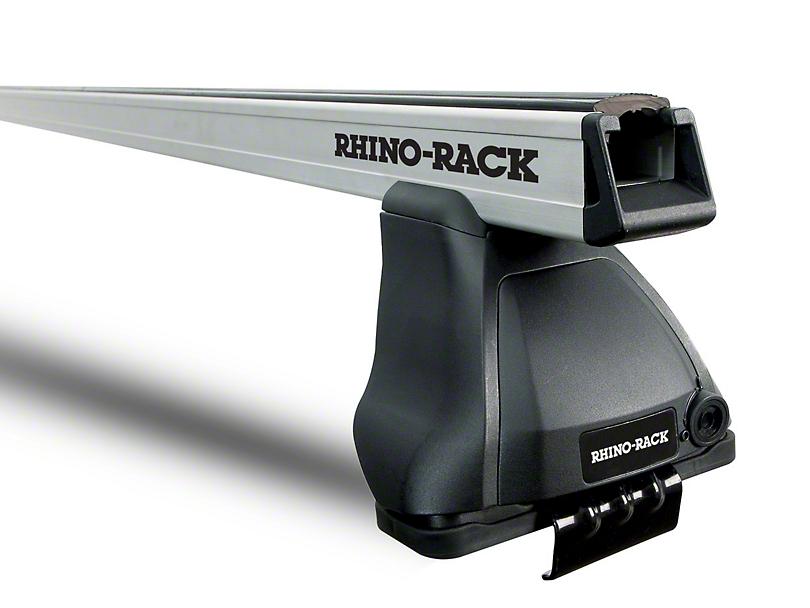 Rhino-Rack Heavy Duty 2500 Rear 1-Bar Roof Rack - Silver (14-18 Silverado 1500 Double Cab, Crew Cab)