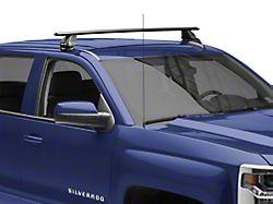 Rhino-Rack Vortex 2500 1-Bar Roof Rack; Black; Rear (14-18 Silverado 1500 Double Cab, Crew Cab)